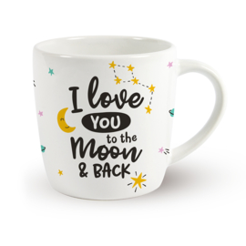 Koffietas 'I LOVE YOU TO THE MOON & BACK'