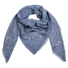 Sjaal met pailletjes in blauw