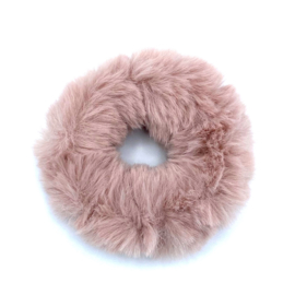 Scrunchie in oudroos 'Fluffy'
