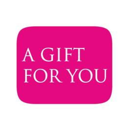 Sticker 'A gift for you' | 10 stuks