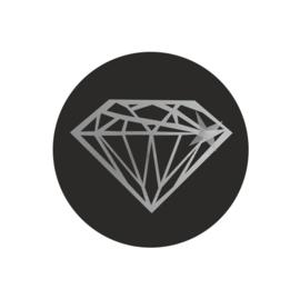 Sticker 'Diamant zilver' | 10 stuks