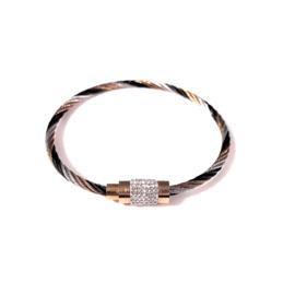 Stainless steel armband in zwart/zilver- en roségoudkleur | Meili
