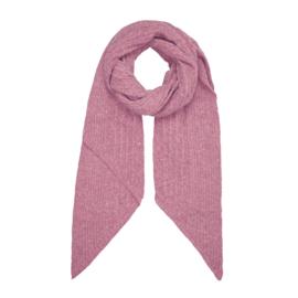 Gebreide sjaal in roos