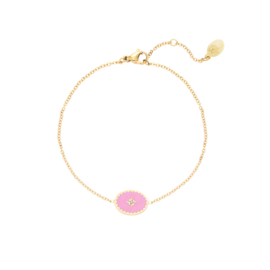 Armband in goud/roos 'Lollipop' (RVS)