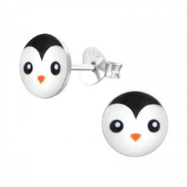 Oorstekertjes in 925 zilver 'Pinguin 4'