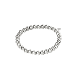 Stainless steel armbandje in zilver | Big Beads