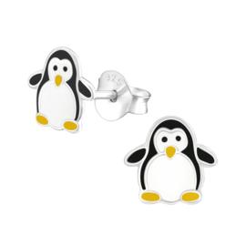 Oorstekertjes in 925 zilver 'Pinguin 1'