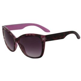 Zonnebril voor dames met dierprint in roos/zwart