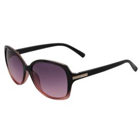 Zonnebril voor dames in roos/zwart