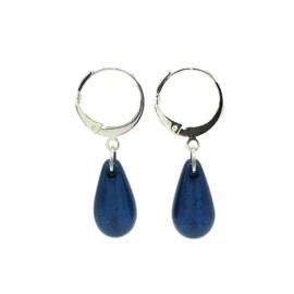 Oorbellen 'Polaris Drops' in shiny night blue