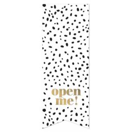 Sticker 'Open me!' | 10 stuks