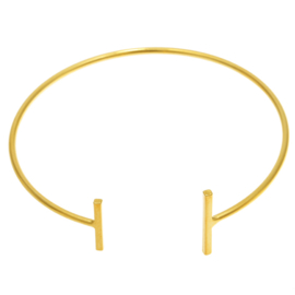 Cuff armband in goudkleur