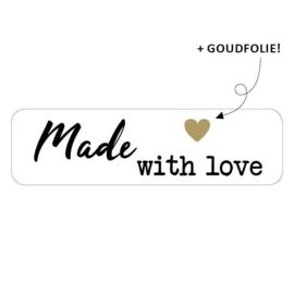 Sticker 'Made with love' | 10 stuks