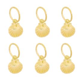 Braid Rings in goud 'Shell' (6 stuks)