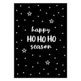 Kerstkaart 'Happy HO HO HO season'