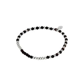Stainless steel armbandje in zilver/zwart | Spheres