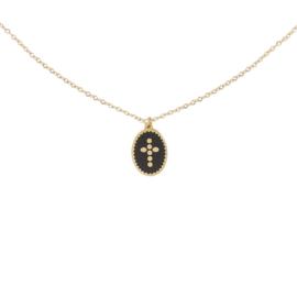Stainless steel halsketting in goud | Cross