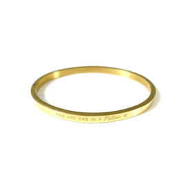 Stainless steel bangle in goud | YOU ARE ONE IN A MILLION