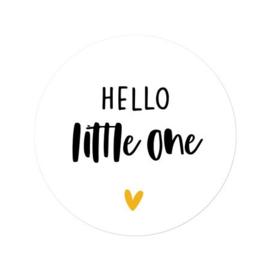 Sticker 'Hello little one' | 10 stuks