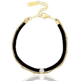 Armbandje in zwart/goudkleur | Velvet