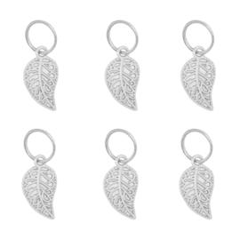 Braid Rings in zilver 'Leaf' (6 stuks)