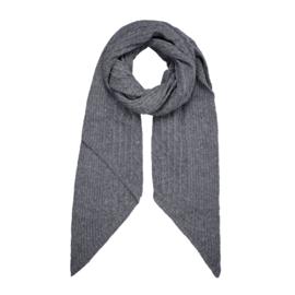 Gebreide sjaal in donkergrijs