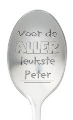 One message spoon | VOOR DE ALLERLEUKSTE PETER