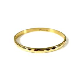 Stainless steel bangle in goud | Rhombus