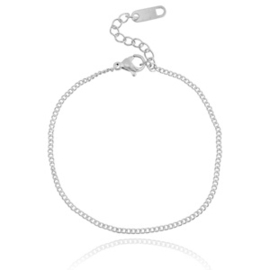 Stainless steel armbandje in zilver