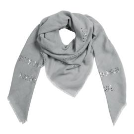 Sjaal met pailletjes in grijs