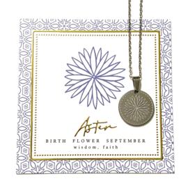 Stainless steel halsketting in zilver | Birth Flower | SEPTEMBER