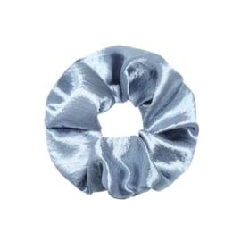 Scrunchie in jeansblauw 'Shiny'