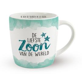 Koffietas 'DE LIEFSTE ZOON VAN DE WERELD'