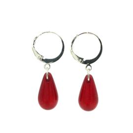 Oorbellen 'Polaris Drops' in shiny red