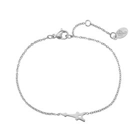 Stainless steel armbandje in zilver | Eiffeltoren