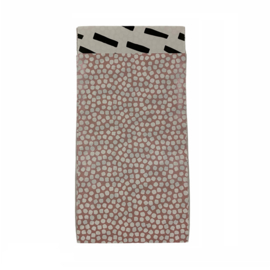 Cadeauzakje met bolletjes in oudroos/wit | 7x13cm | 5 stuks