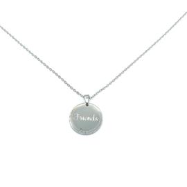 Stainless steel halsketting in zilver | FRIENDS
