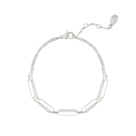 Armband in zilver 'Double' (RVS)