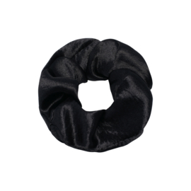 Scrunchie in zwart 'Shiny'