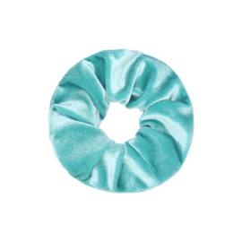Scrunchie in zeegroen 'Velvet'