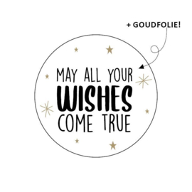 Sticker 'May all your wishes come true' | 10 stuks