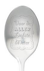 One message spoon | VOOR DE ALLERLIEFSTE METER