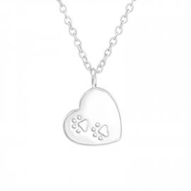 925 zilver halsketting | Dog & Heart