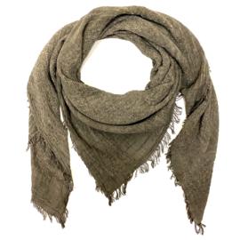 Sjaal in afgewassen bruin