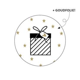 Sticker 'Cadeautje+sterretjes' | 10 stuks
