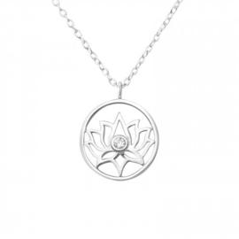 925 zilver halsketting | Lotus Flower