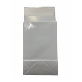 Cadeauzakje met blokbodem in wit | 10x15.7cm | 3 stuks