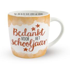 Koffietas 'BEDANKT VOOR HET SCHOOLJAAR'