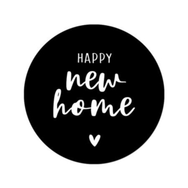 Sticker 'Happy new home' | 10 stuks