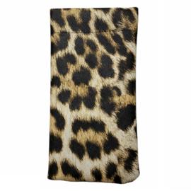 Brillenhoesje met luipaardprint